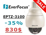 -35% на купольную камеру Everfocus EPTZ-3100